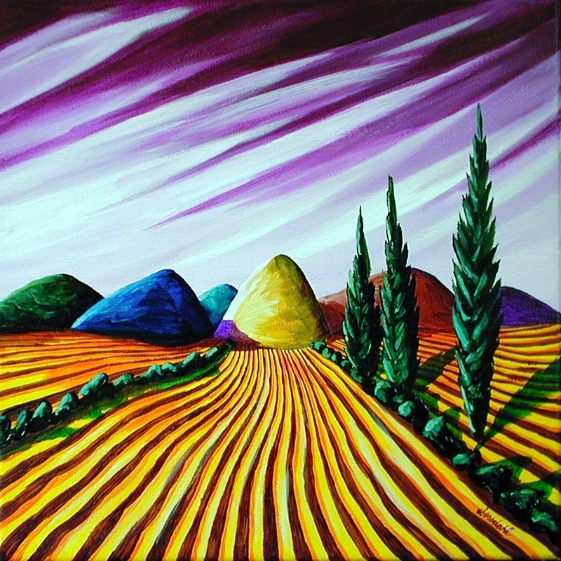 Amber Fields Under Lavender Skies 3