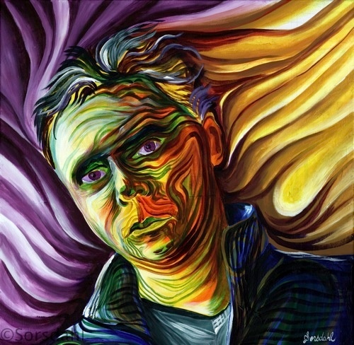 Purple Rain: Sorsdahl self portrait